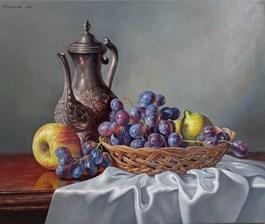 Living room painting by Wojciech Piekarski titled Still nature