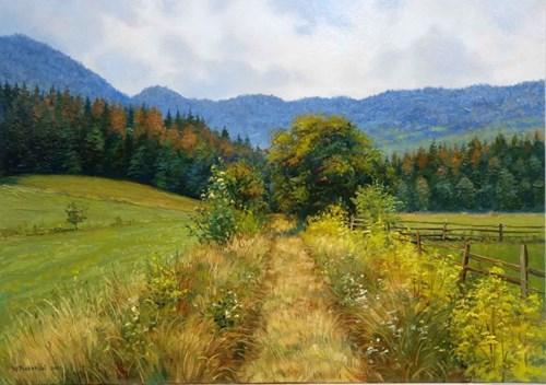 Obraz do salonu artysty Wojciech Piekarski pod tytułem Droga w góry