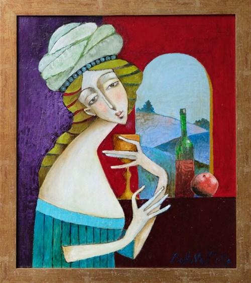 Obraz do salonu artysty Jan Bonawentura Ostrowski pod tytułem Dziewczyna z Karafką