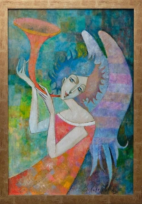 Obraz do salonu artysty Jan Bonawentura Ostrowski pod tytułem Dziewczyna Anioł