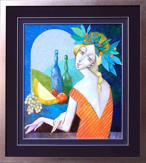 Obraz do salonu artysty Jan Bonawentura Ostrowski pod tytułem Dziewczyna w oknie