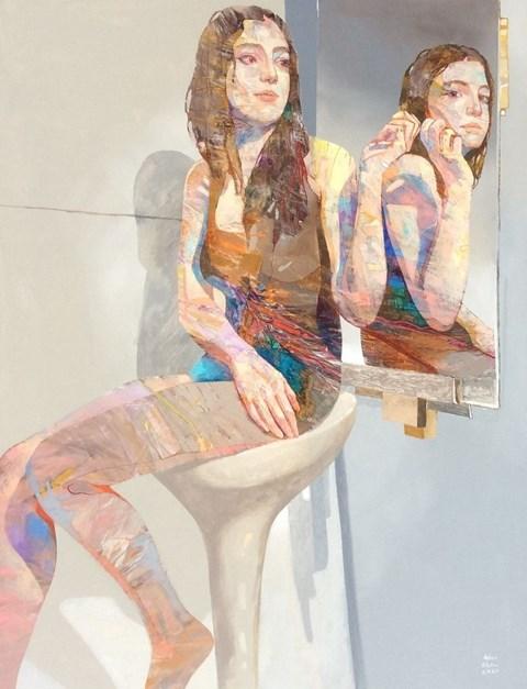 Obraz do salonu artysty Adam Wątor pod tytułem Sam ze sobą