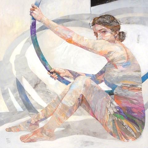 Obraz do salonu artysty Adam Wątor pod tytułem Spotkanie z geometrią