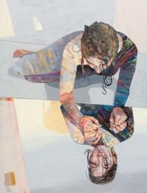 Obraz do salonu artysty Adam Wątor pod tytułem Po drugiej stronie lustra