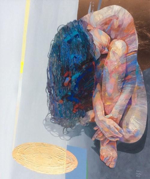 Obraz do salonu artysty Adam Wątor pod tytułem Złote zwierciadło prawdy