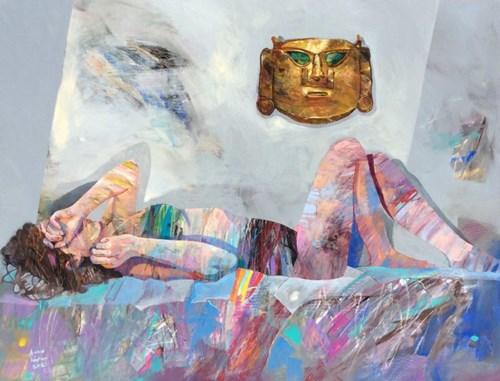 Obraz do salonu artysty Adam Wątor pod tytułem Dziewczyna i Bożek