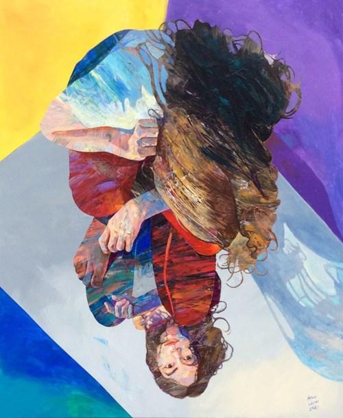 Obraz do salonu artysty Adam Wątor pod tytułem Na tafli szkła
