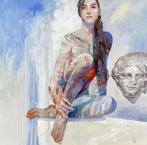 Obraz do salonu artysty Adam Wątor pod tytułem Z kamienną twarzą