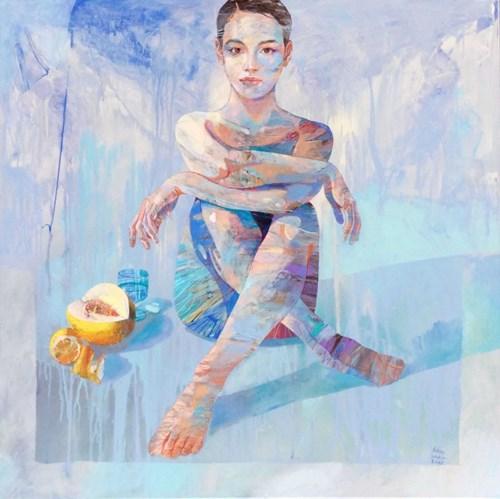 Obraz do salonu artysty Adam Wątor pod tytułem Dziewczyna z owocami