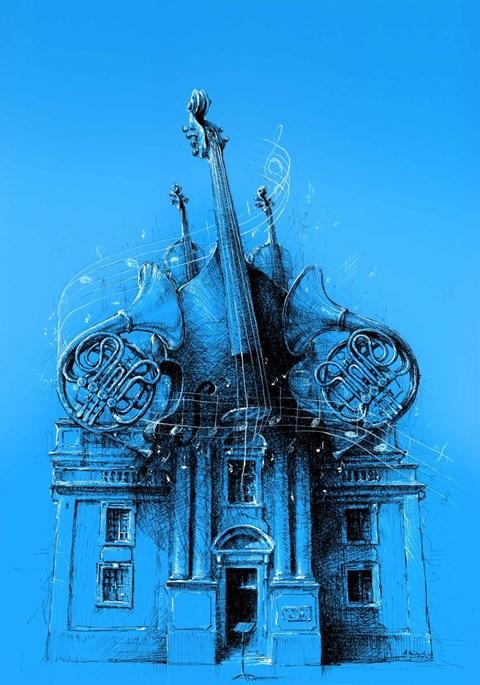 Obraz do salonu artysty Mariusz Kałdowski pod tytułem Muzyka i architektura