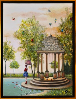 Obraz do salonu artysty Magdalena Zalewska pod tytułem Ptasi Raj