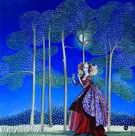 Obraz do salonu artysty Magdalena Zalewska pod tytułem Zaczarowany flet