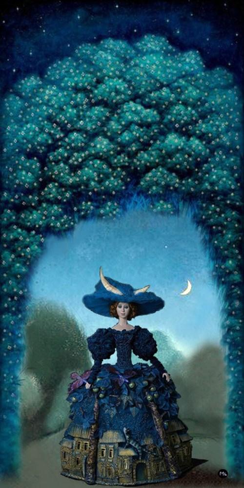 Obraz do salonu artysty Magdalena Zalewska pod tytułem Queen of the Night