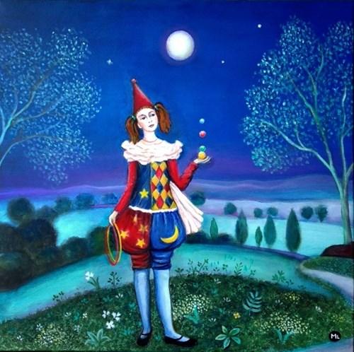 Obraz do salonu artysty Magdalena Zalewska pod tytułem Żonglerka