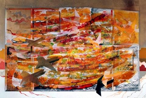 Obraz do salonu artysty Krzysztof Wieczorek pod tytułem Płynąć tam jak najdłużej