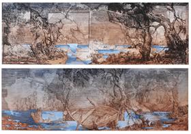 Dwa pejzaże horyzontalne i szkic niderlandzki (dyptyk)