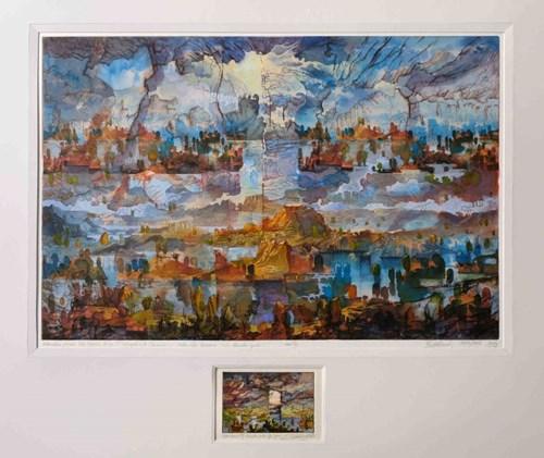 Grafika do salonu artysty Krzysztof Wieczorek pod tytułem Metamorfoza pejzażu lub opowieść druga z topograficznych oceanów - EA XII