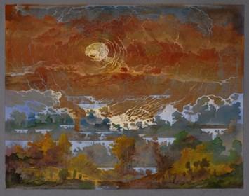 Grafika do salonu artysty Krzysztof Wieczorek pod tytułem Ja nawet nie wiem, skąd biorą się te wszystkie szmery