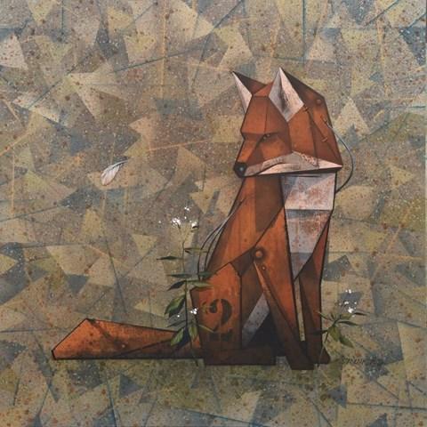 Obraz do salonu artysty Kamil Stańczak pod tytułem Lis