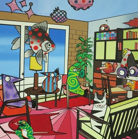 Obraz do salonu artysty Marcin Błach pod tytułem Out of My Mind