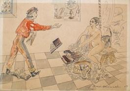 Obraz do salonu artysty Maja Berezowska pod tytułem Kąpiel z Astronomem