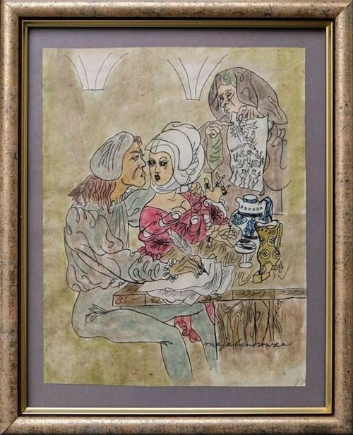 Obraz do salonu artysty Maja Berezowska pod tytułem Abelard i Heloiza