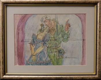 Obraz do salonu artysty Maja Berezowska pod tytułem Kochankowie