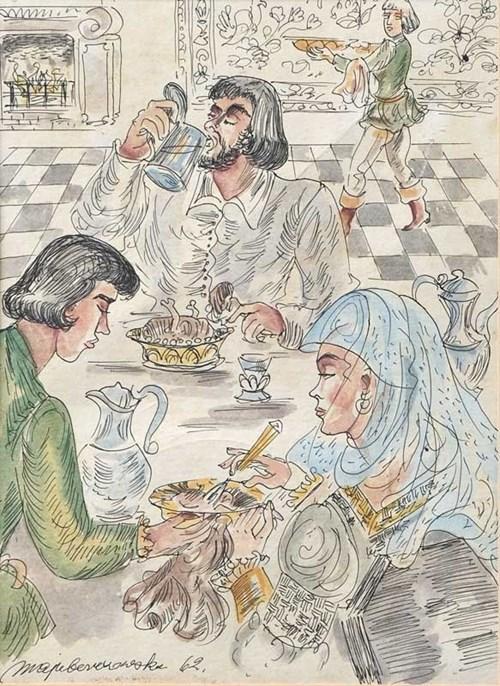 Obraz do salonu artysty Maja Berezowska pod tytułem Uczta