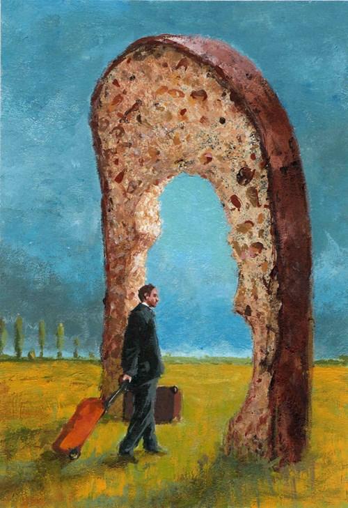 Obraz do salonu artysty Robert Konrad pod tytułem Za chlebem