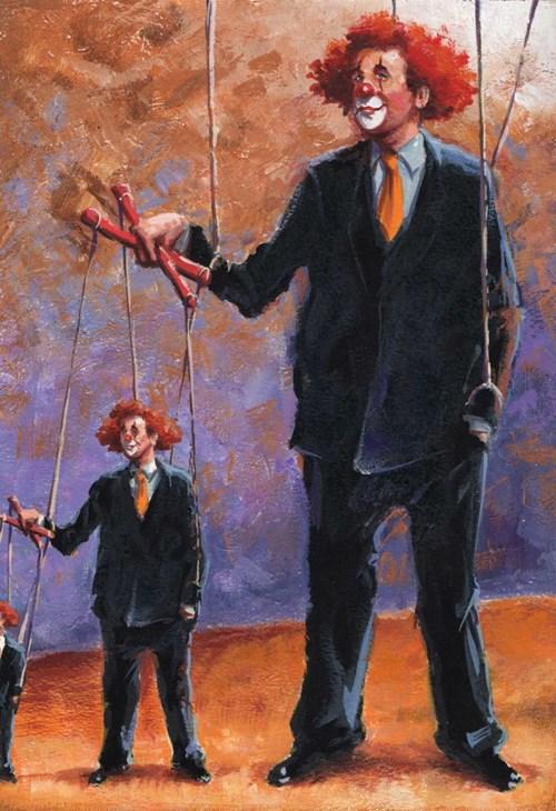 Obraz do salonu artysty Robert Konrad pod tytułem Master of Puppets