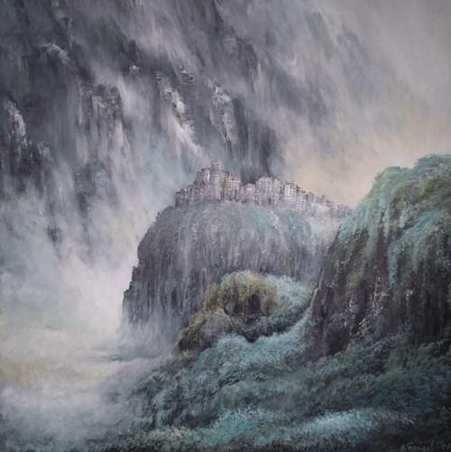 Obraz do salonu artysty Andrzej Fronczak pod tytułem Tajemnice górskiego miasta