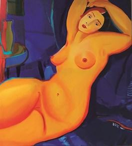 Obraz do salonu artysty Inez White pod tytułem Modelka