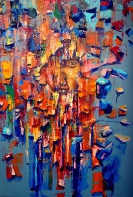 Obraz do salonu artysty Łukasz Jankiewicz pod tytułem Twarze i maski