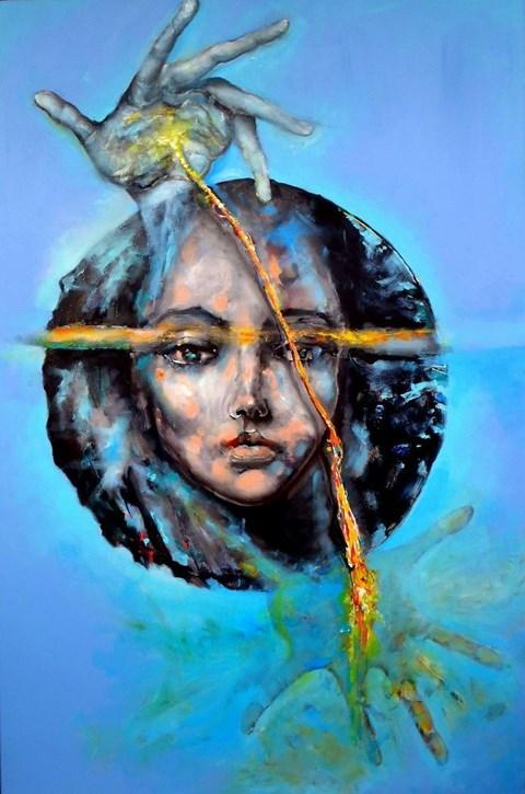 Obraz do salonu artysty Łukasz Jankiewicz pod tytułem Marionetki