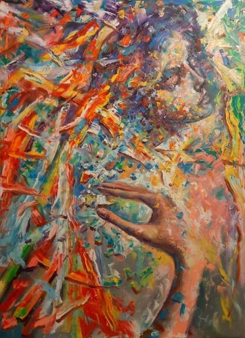 Obraz do salonu artysty Łukasz Jankiewicz pod tytułem Dotyk