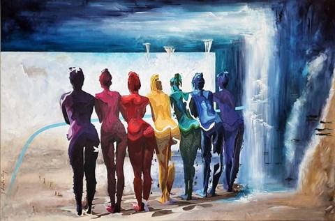 Obraz do salonu artysty J. Aurelia Sikiewicz-Wojtaszek pod tytułem Kolory tęczy