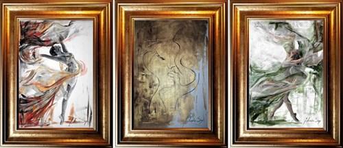 Obraz do salonu artysty J. Aurelia Sikiewicz-Wojtaszek pod tytułem Zmysł (tryptyk)