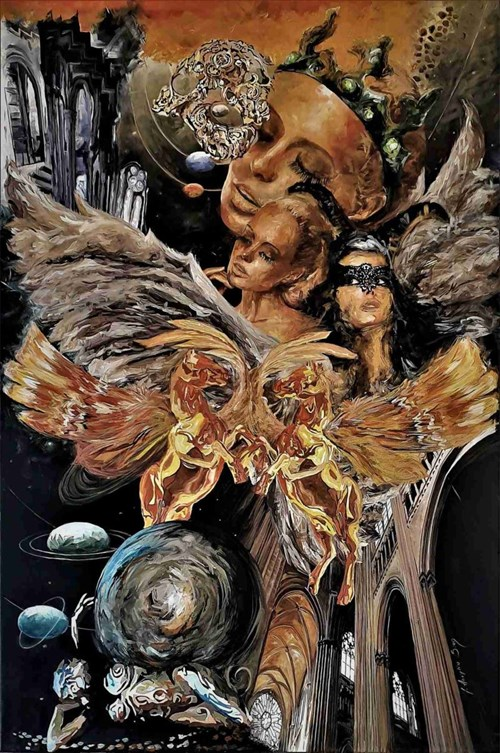 Obraz do salonu artysty J. Aurelia Sikiewicz-Wojtaszek pod tytułem The Sense of Universes
