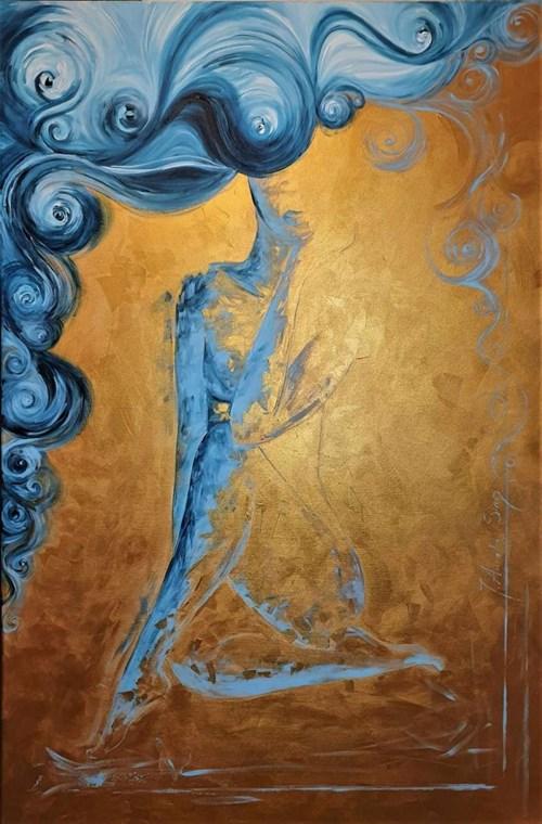 Obraz do salonu artysty J. Aurelia Sikiewicz-Wojtaszek pod tytułem The Girl in Golden Rays