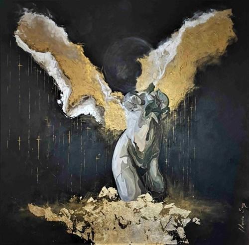 Obraz do salonu artysty J. Aurelia Sikiewicz-Wojtaszek pod tytułem Księżyc złotego upadku