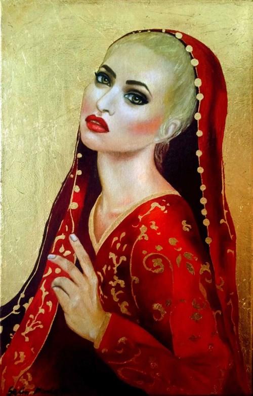 Obraz do salonu artysty Marlena Selin pod tytułem Madonna Fashion