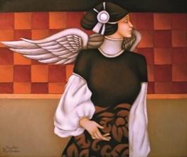 Obraz do salonu artysty Beata Krystek-Borkowska pod tytułem Anioł