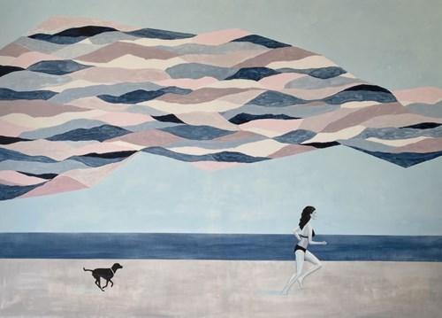 Living room painting by Urszula Teperek titled Beach