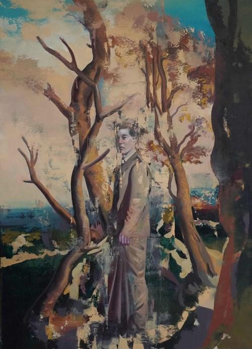 Obraz do salonu artysty Jan Szczepkowski pod tytułem Lek twórczy