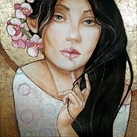Obraz do salonu artysty Joanna Misztal pod tytułem Orchidea