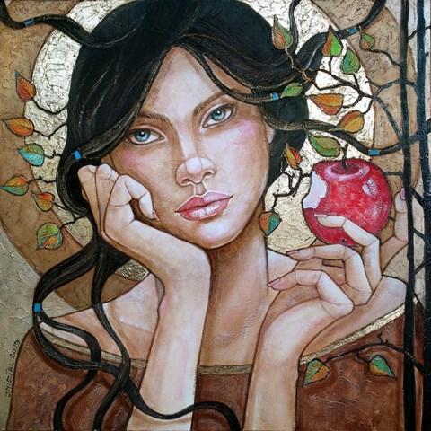 Obraz do salonu artysty Joanna Misztal pod tytułem Ewa się zamyśliła