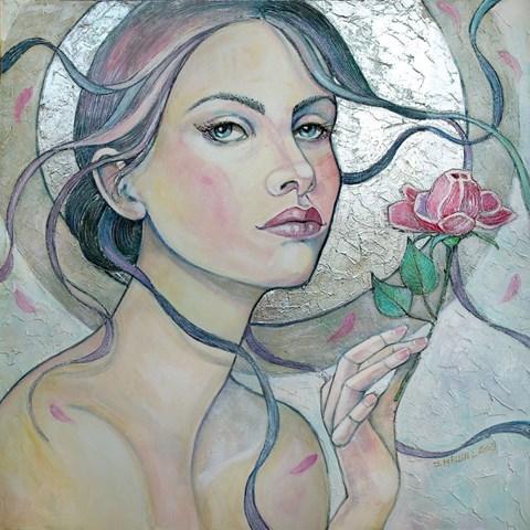 Obraz do salonu artysty Joanna Misztal pod tytułem Zimowa róża