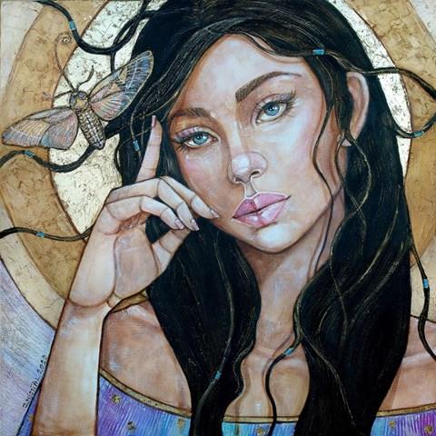 Obraz do salonu artysty Joanna Misztal pod tytułem Wieczorna Ćma