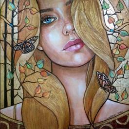 Obraz do salonu artysty Joanna Misztal pod tytułem Melancholia jesiennej ćmy