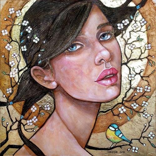 Obraz do salonu artysty Joanna Misztal pod tytułem Kiedy zakwitnie wiśnia